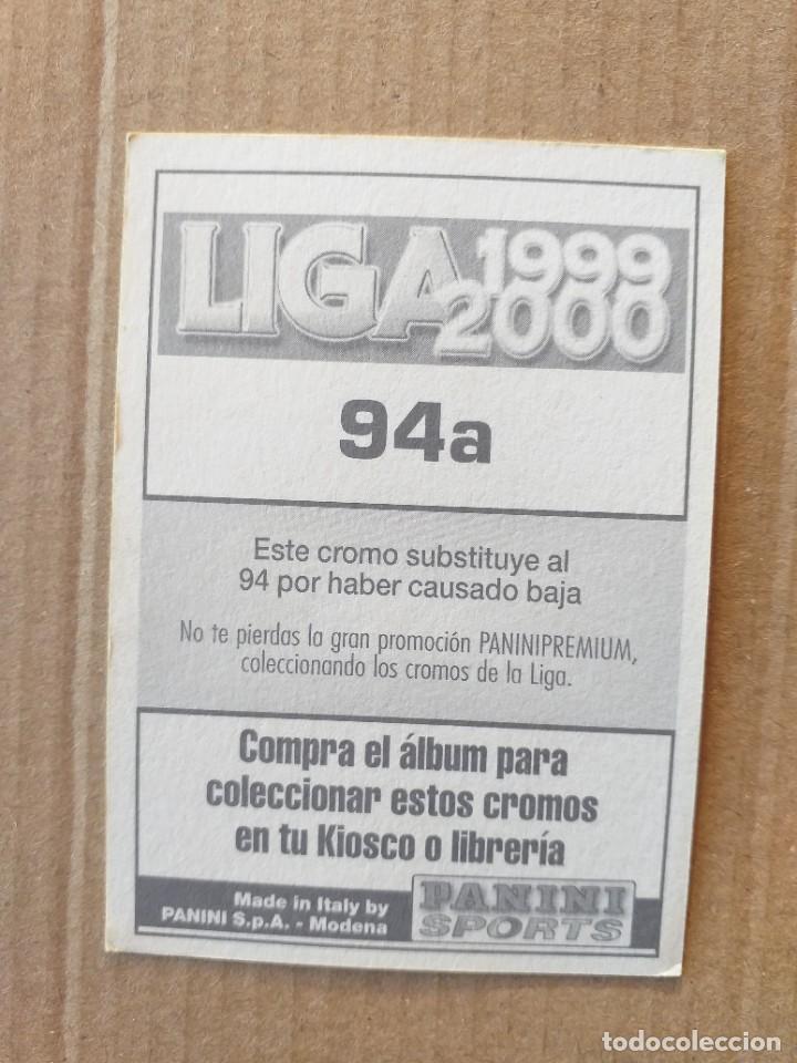 Cromos de Fútbol: PANINI SPORTS - LIGA 1999 2000 - 99 00 - (94a) CELTA - TURDO - SIN PEGAR - Foto 2 - 228742845