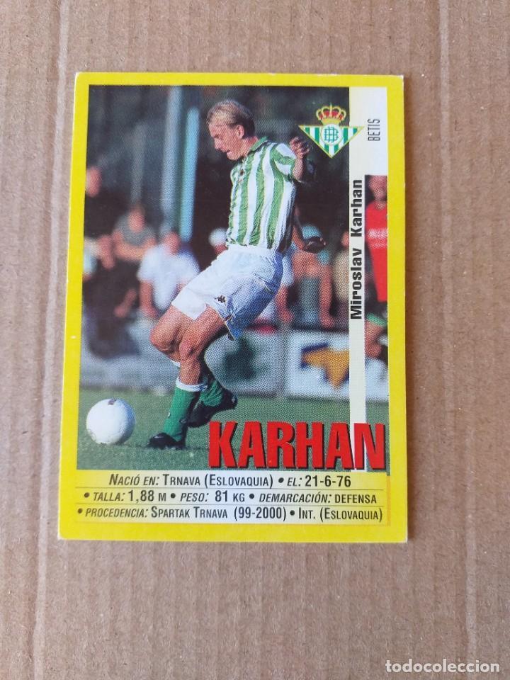 PANINI SPORTS - LIGA 1999 2000 - 99 00 - (195A) BETIS - KARHAN - SIN PEGAR (Coleccionismo Deportivo - Álbumes y Cromos de Deportes - Cromos de Fútbol)