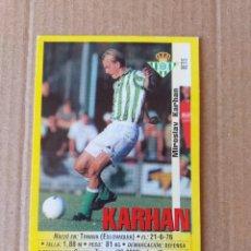 Cromos de Fútbol: PANINI SPORTS - LIGA 1999 2000 - 99 00 - (195A) BETIS - KARHAN - SIN PEGAR. Lote 228745737