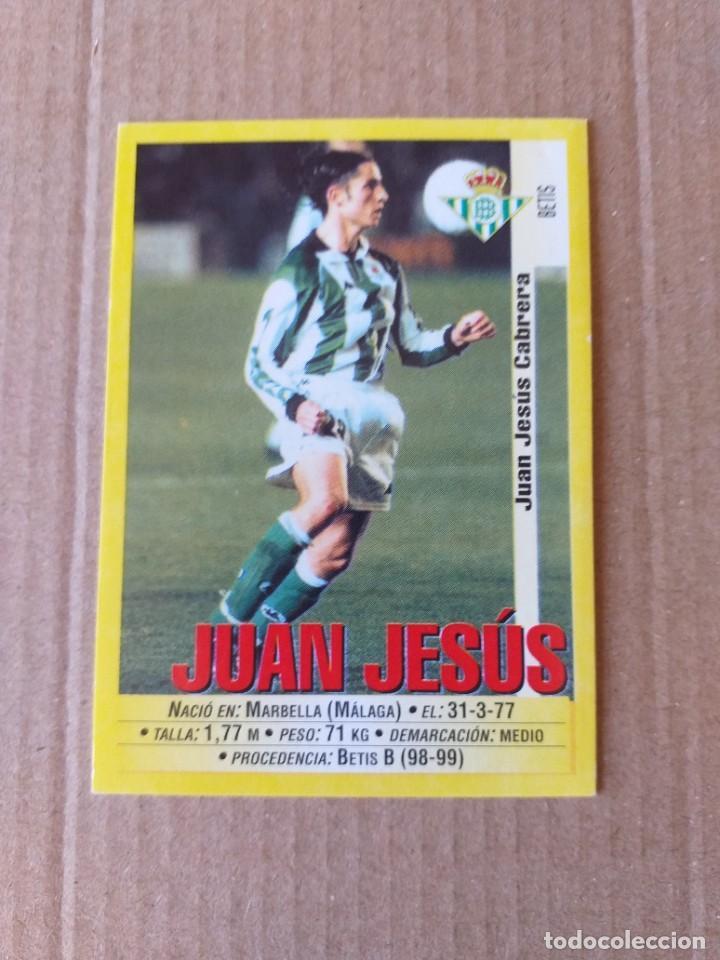 PANINI SPORTS - LIGA 1999 2000 - 99 00 - (203A) BETIS - JUAN JESUS - SIN PEGAR (Coleccionismo Deportivo - Álbumes y Cromos de Deportes - Cromos de Fútbol)