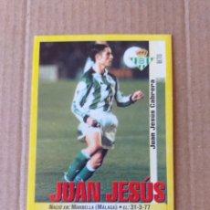 Cromos de Fútbol: PANINI SPORTS - LIGA 1999 2000 - 99 00 - (203A) BETIS - JUAN JESUS - SIN PEGAR. Lote 228746395