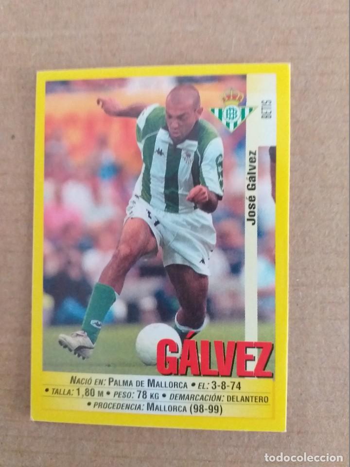 PANINI SPORTS - LIGA 1999 2000 - 99 00 - (208A) BETIS - GALVEZ - SIN PEGAR (Coleccionismo Deportivo - Álbumes y Cromos de Deportes - Cromos de Fútbol)