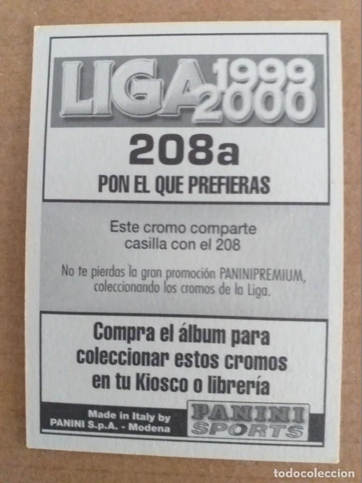 Cromos de Fútbol: PANINI SPORTS - LIGA 1999 2000 - 99 00 - (208a) BETIS - GALVEZ - SIN PEGAR - Foto 2 - 228746690