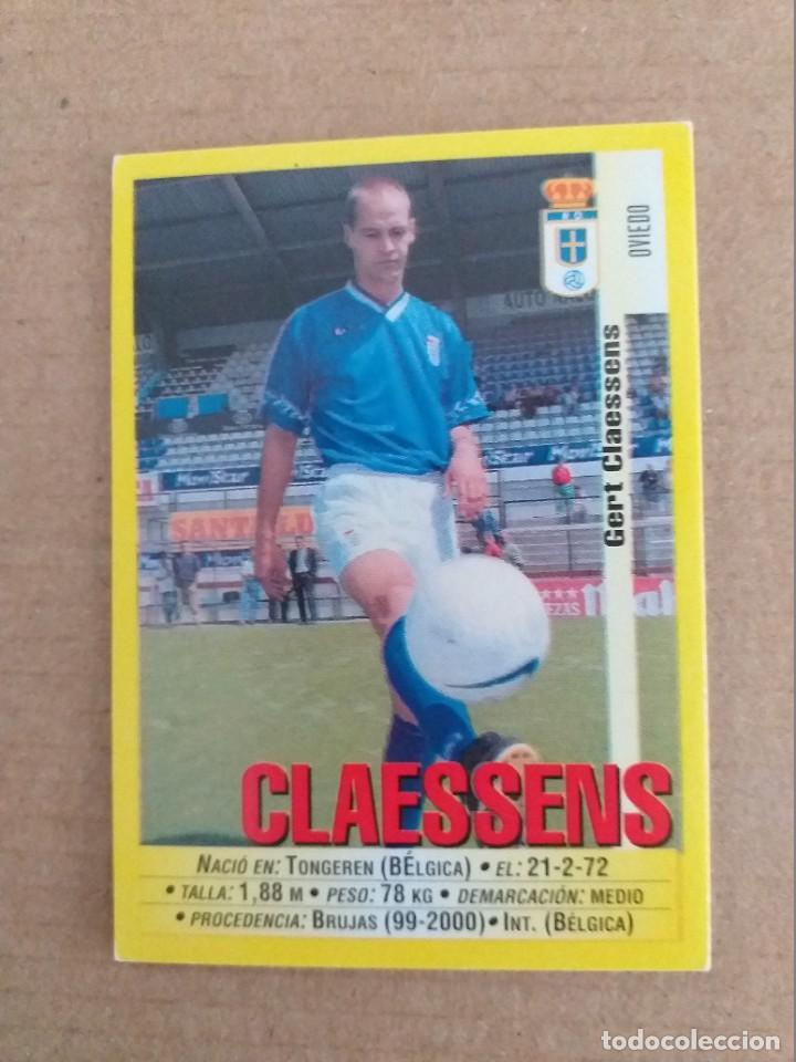 PANINI SPORTS - LIGA 1999 2000 - 99 00 - (256A) OVIEDO - CLAESSENS - SIN PEGAR (Coleccionismo Deportivo - Álbumes y Cromos de Deportes - Cromos de Fútbol)
