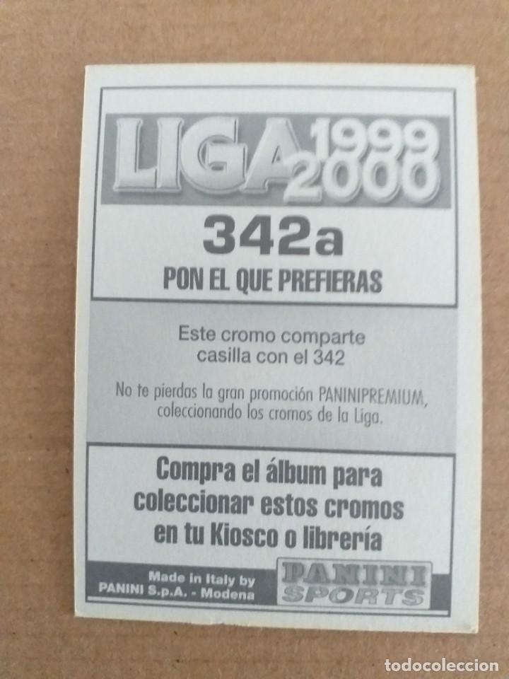 Cromos de Fútbol: PANINI SPORTS - LIGA 1999 2000 - 99 00 - (342a) NUMANCIA - NUÑEZ - SIN PEGAR - Foto 2 - 228784048