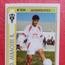Cromos de Futebol: Nº 234 MORIENTES S.D. ALBACETE B. FICHAS 94/95 1994 1995 MUNDICROMO. Lote 229009335