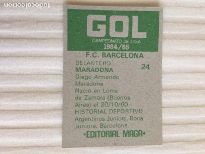 Cromos de Fútbol: MARADONA MAGA 84 85 NUEVO 1984 1985 - Foto 2 - 229183785