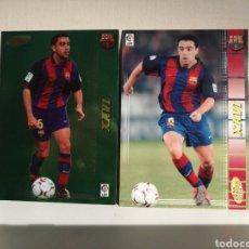 Cromos de Fútbol: MEGACRACKS 04 05 XAVI HERNANDEZ LAS DOS FICHAS. Lote 229777355