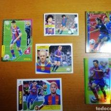 Cromos de Fútbol: CROMOS HISTÓRICOS FC BARCELONA. 15 ESTRELLAS CLAVES. MARADONA, KOEMAN, NEYMAR.. Lote 230793405