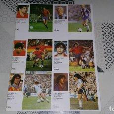 Cromos de Fútbol: LÁMINA ASES DEL DEPORTE MUNDIAL MARADONA JUANITO GORDILLO KEMPES MUNDIAL ESPAÑA 1982. Lote 230843470