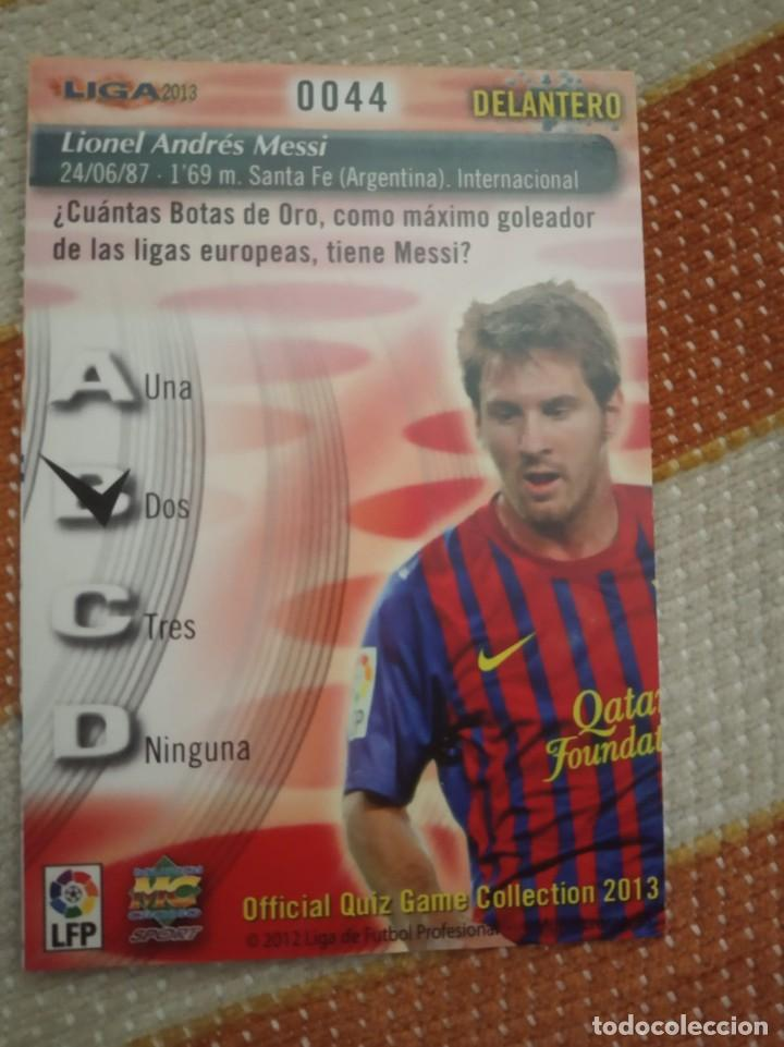 """Cromos de Fútbol: Cromo Messi 2012/13,nº 44 Mundicromo, nuevo de sobre, """"NO ROOKIE"""" - Foto 2 - 230947055"""