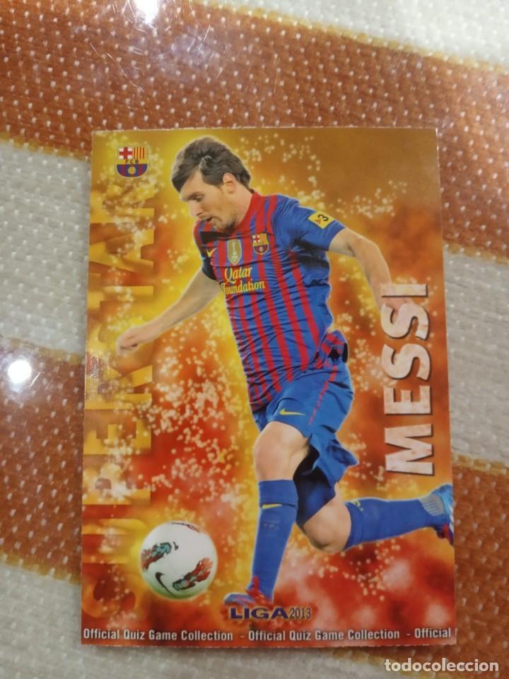 """CROMO MESSI SUPERSTAR 2013 MUNDICROMO EDICION MATE """"NO ROOKIE"""" (Coleccionismo Deportivo - Álbumes y Cromos de Deportes - Cromos de Fútbol)"""