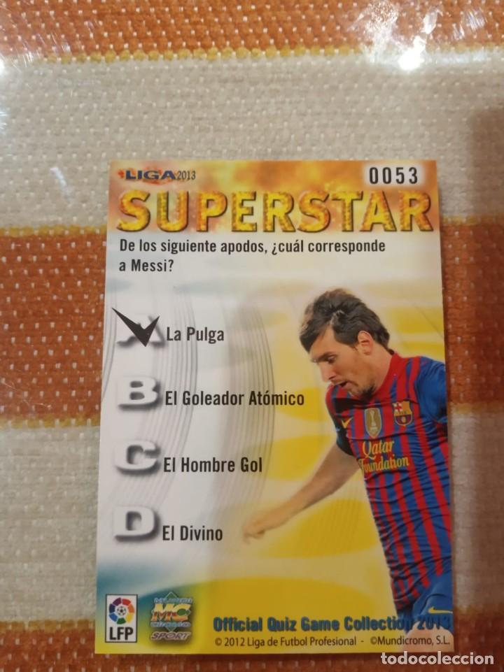 """Cromos de Fútbol: Cromo Messi Superstar 2013 Mundicromo Edicion Mate """"NO ROOKIE"""" - Foto 2 - 230947225"""