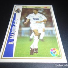 Figurine di Calcio: FICHAJE UH + 72 RAUL ROOKIE REAL MADRID CROMOS ALBUM MUNDICROMO LIGA FUTBOL 1994 1995 94 95. Lote 231430685