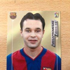 Cromos de Fútbol: # 398 INIESTA ROOKIE CARD FC BARCELONA MEGACRACKS MEGA PROMESAS 2003 2004. PERFECTO. MINT CONDITION. Lote 231768260