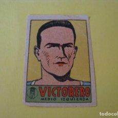 Cromos de Fútbol: CROMO DE FUTBOL. OVIEDO. VICTORERO. MEDIO IZQUIERDA. 1941-42.. Lote 231985320