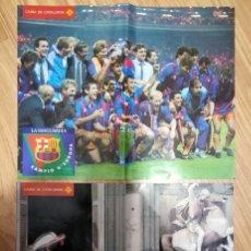 Cromos de Fútbol: PÓSTER LA VANGUARDIA F.C. BARCELONA CAMPEÓN EUROPA 1992, COPA EUROPA WEMBLEY 92 (CELEBRACIÓN BARÇA). Lote 232017610