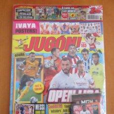 Cromos de Fútbol: REVISTA JUGÓN 165 PRECINTADA 5 BIS MEGACRACKS 2021 MUSAH KONDOGBIA ZARRAGA...MESSI LEER. Lote 232932601
