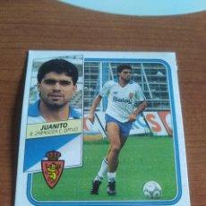 Figurine di Calcio: JUANITO ZARAGOZA 89 90 ESTE RECUPERADO DEL ÁLBUM VER FOTOS. Lote 232981790