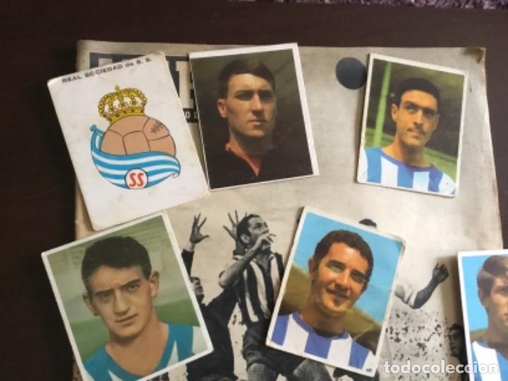 LOTE CROMOS FUTBOL REAL SOCIEDAD TEMPORADA 1968 CAMPEONES BRUGUERA NUNCA PEGADOS (Coleccionismo Deportivo - Álbumes y Cromos de Deportes - Cromos de Fútbol)