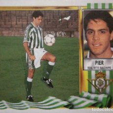 Figurine di Calcio: PIER - FICHAJES Nº 17 - REAL BETIS B. - EDICIONES ESTE LIGA 1995 1996 95 96 - SIN PEGAR. Lote 233508260