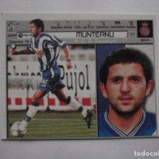 Cromos de Fútbol: CROMO DE FUTBOL FICHAJE 24 MUNTEANU (ESPANYOL). LIGA ESTE 2001-02. NUEVO. Lote 233903925