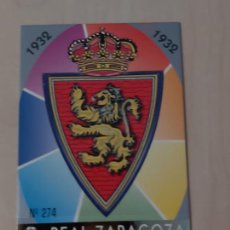 Cromos de Fútbol: Nº 274 ESCUDO - MUNDICROMO - FICHAS DE LA LIGA 97 98 - REAL ZARAGOZA. Lote 289864068