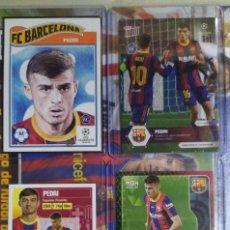 Cromos de Fútbol: PEDRI ROOKIE TOPPS LIVING SET EXCLUSIVE CARD LOT NEW BARCELONA MEGACRACKS NOW ESTE. Lote 234147430