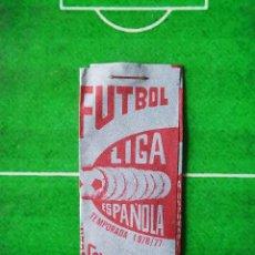 Cromos de Fútbol: SOBRE DE CROMOS CERRADO FÚTBOL 76 77 LIGA ESPAÑOLA 1976 1977 GRAFIMUR COLECCIONABLES PREMIO CAMISETA. Lote 234388250