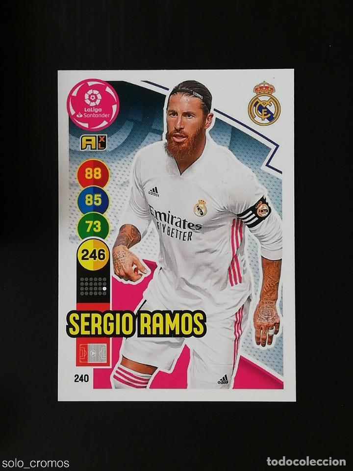 #240 SERGIO RAMOS REAL MADRID 2020 2021 ADRENALYN XL LIGA 20 21 PANINI CODIGO SIN ACTIVAR (Coleccionismo Deportivo - Álbumes y Cromos de Deportes - Cromos de Fútbol)