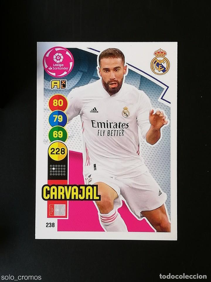#238 CARVAJAL REAL MADRID 2020 2021 ADRENALYN XL LIGA 20 21 PANINI CODIGO SIN ACTIVAR (Coleccionismo Deportivo - Álbumes y Cromos de Deportes - Cromos de Fútbol)