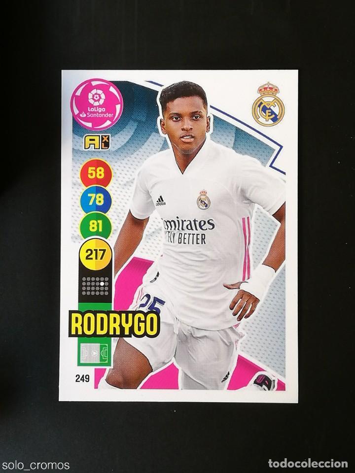 #249 RODRYGO REAL MADRID 2020 2021 ADRENALYN XL LIGA 20 21 PANINI CODIGO SIN ACTIVAR (Coleccionismo Deportivo - Álbumes y Cromos de Deportes - Cromos de Fútbol)