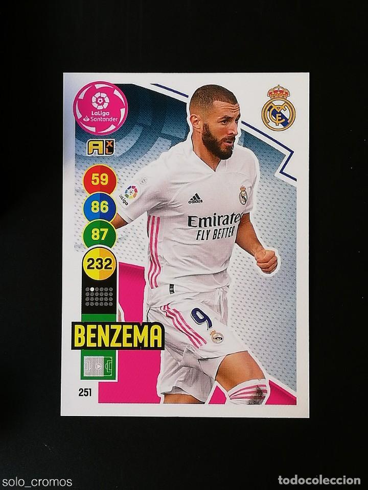 #251 BENZEMA REAL MADRID 2020 2021 ADRENALYN XL LIGA 20 21 PANINI CODIGO SIN ACTIVAR (Coleccionismo Deportivo - Álbumes y Cromos de Deportes - Cromos de Fútbol)