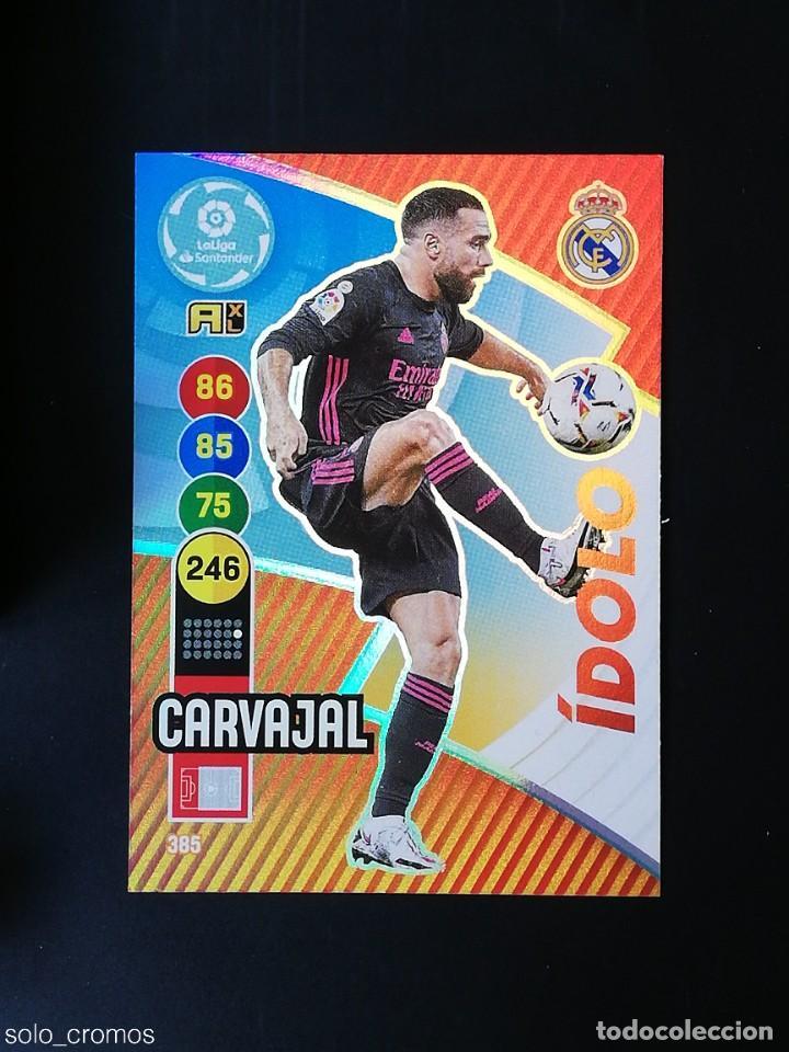 #385 CARVAJAL REAL MADRID IDOLO 2020 2021 ADRENALYN XL LIGA 20 21 PANINI CODIGO SIN ACTIVAR (Coleccionismo Deportivo - Álbumes y Cromos de Deportes - Cromos de Fútbol)