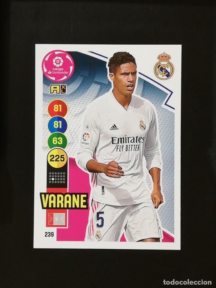 #239 VARANE REAL MADRID 2020 2021 ADRENALYN XL LIGA 20 21 CODIGO SIN ACTIVAR (Coleccionismo Deportivo - Álbumes y Cromos de Deportes - Cromos de Fútbol)