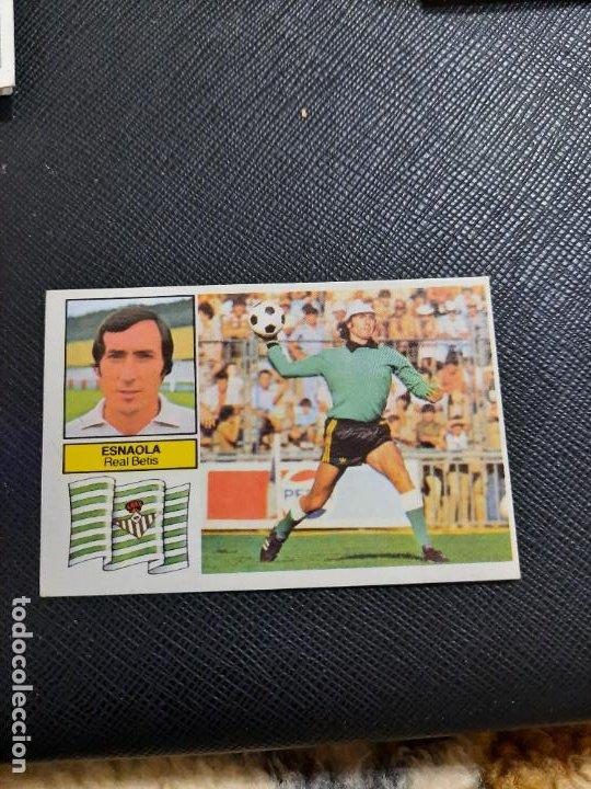 ESNAOLA REAL BETIS ESTE 1982 1983 CROMO FUTBOL LIGA 82 83 - RF0 - SIN PEGAR - 807 (Coleccionismo Deportivo - Álbumes y Cromos de Deportes - Cromos de Fútbol)