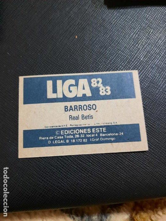 Cromos de Fútbol: BARROSO REAL BETIS ESTE 1982 1983 CROMO FUTBOL LIGA 82 83 - RF0 - SIN PEGAR - 808 - Foto 2 - 234898765