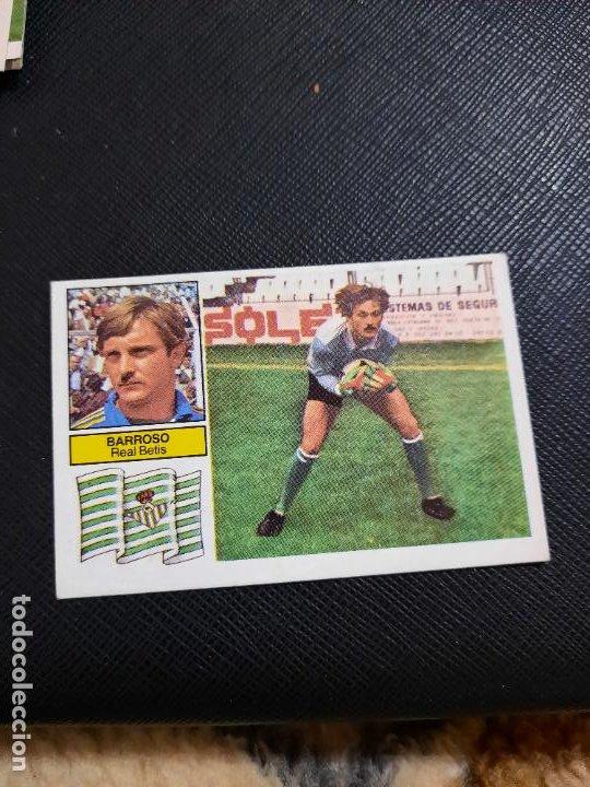 BARROSO REAL BETIS ESTE 1982 1983 CROMO FUTBOL LIGA 82 83 - RF0 - SIN PEGAR - 808 (Coleccionismo Deportivo - Álbumes y Cromos de Deportes - Cromos de Fútbol)