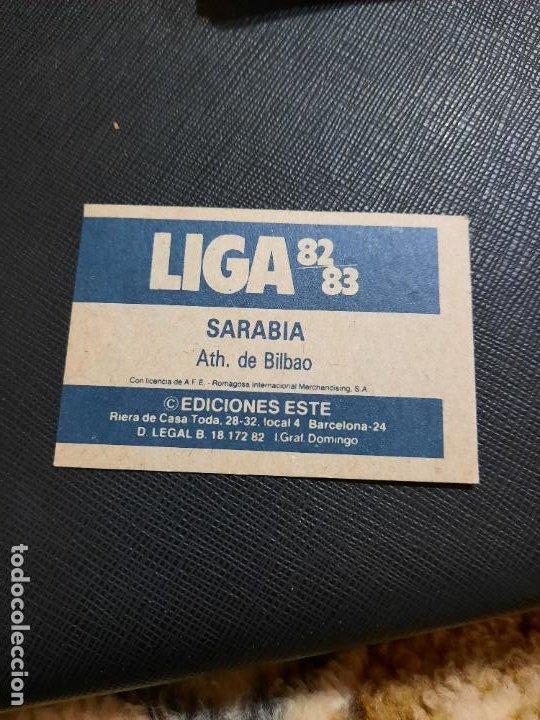 Cromos de Fútbol: SARABIA BILBAO ESTE 1982 1983 CROMO FUTBOL LIGA 82 83 - RF0 - SIN PEGAR - 810 - Foto 2 - 234898930
