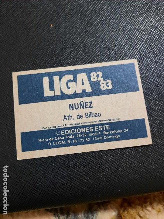 Cromos de Fútbol: NUÑEZ BILBAO ESTE 1982 1983 CROMO FUTBOL LIGA 82 83 - RF0 - SIN PEGAR - 811 - Foto 2 - 234898985