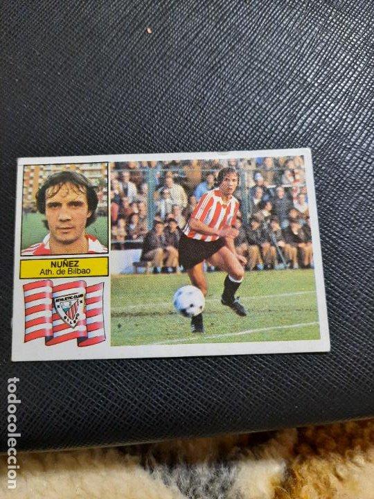 NUÑEZ BILBAO ESTE 1982 1983 CROMO FUTBOL LIGA 82 83 - RF0 - SIN PEGAR - 811 (Coleccionismo Deportivo - Álbumes y Cromos de Deportes - Cromos de Fútbol)
