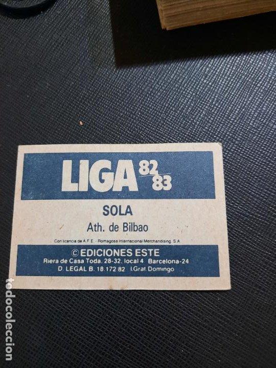 Cromos de Fútbol: SOLA BILBAO ESTE 1982 1983 CROMO FUTBOL LIGA 82 83 - RF0 - SIN PEGAR - 812 - Foto 2 - 234899090