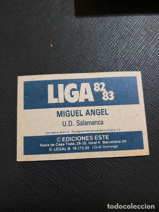 Cromos de Fútbol: MIGUEL ANGEL SALAMANCA ESTE 1982 1983 CROMO FUTBOL LIGA 82 83 - RF0 - SIN PEGAR - 815 - Foto 2 - 234899340
