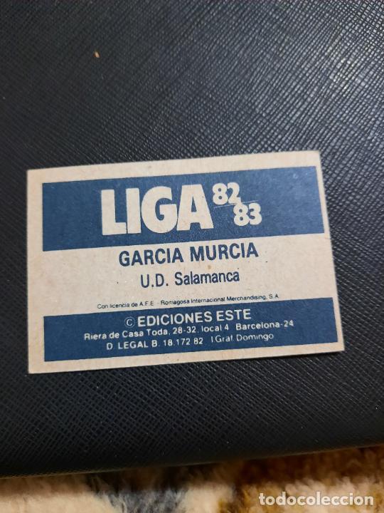 Cromos de Fútbol: GARCIA MURCIA SALAMANCA ESTE 1982 1983 CROMO FUTBOL LIGA 82 83 - RF0 - SIN PEGAR - 816 - Foto 2 - 234899410