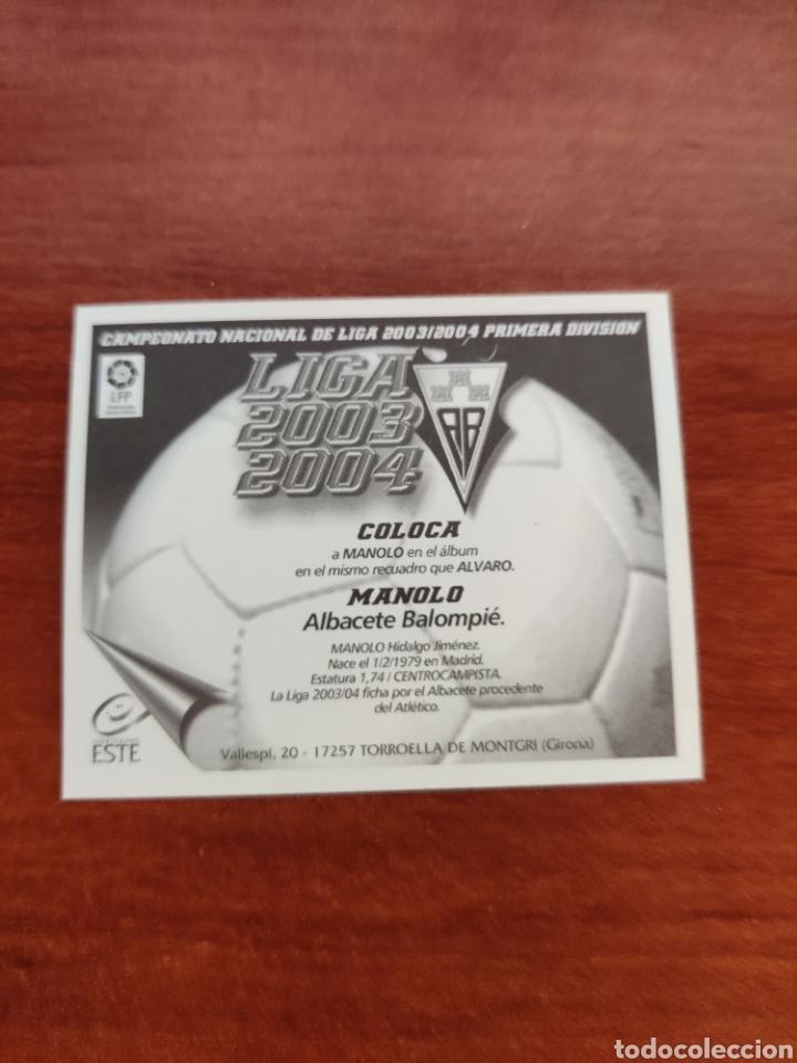 Cromos de Fútbol: Cromo Coloca Manolo Albacete Balompié liga este 2003-2004 03-04 - Foto 2 - 234899780