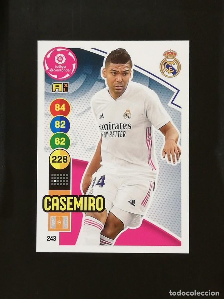 #243 CASEMIRO REAL MADRID 2020 2021 ADRENALYN XL LIGA 20 21 CODIGO SIN ACTIVAR (Coleccionismo Deportivo - Álbumes y Cromos de Deportes - Cromos de Fútbol)