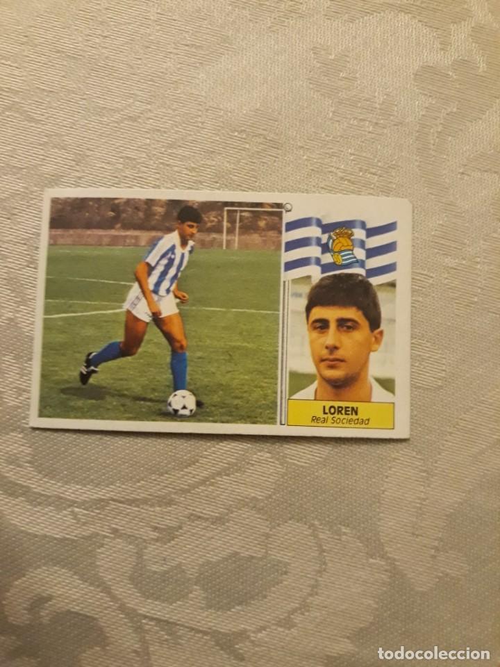 LOREN REAL SOCIEDAD NUNCA PEGADO ESTE 1986 1987 CROMO FUTBOL LIGA 86 87 (Coleccionismo Deportivo - Álbumes y Cromos de Deportes - Cromos de Fútbol)