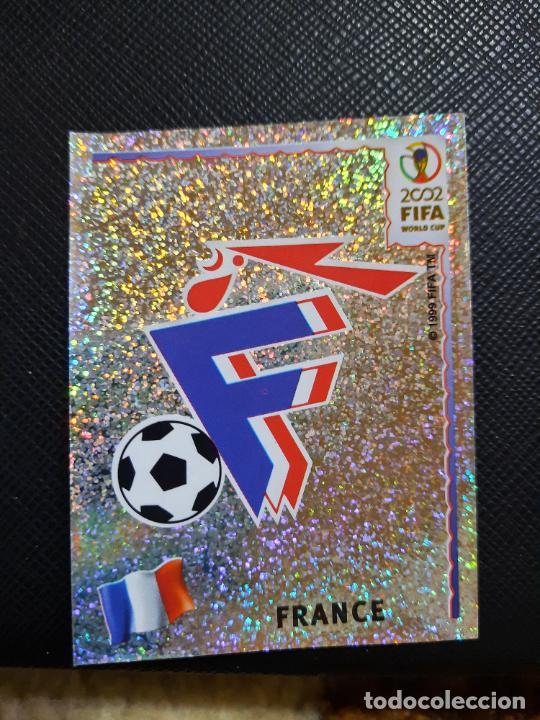 ESCUDO FRANCIA PANINI 2002 CROMO FUTBOL MUNDIAL KOREA 02 SIN PEGAR RF0 N 26 B (Coleccionismo Deportivo - Álbumes y Cromos de Deportes - Cromos de Fútbol)