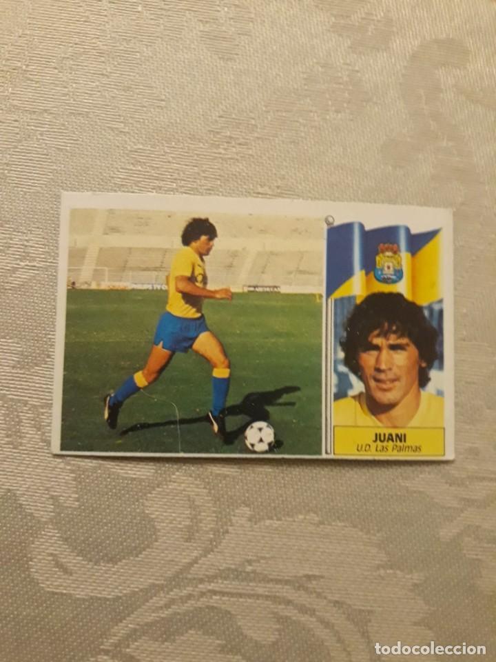 JUANI LAS PALMAS NUNCA PEGADO ESTE 1986 1987 CROMO FUTBOL LIGA 86 87 (Coleccionismo Deportivo - Álbumes y Cromos de Deportes - Cromos de Fútbol)
