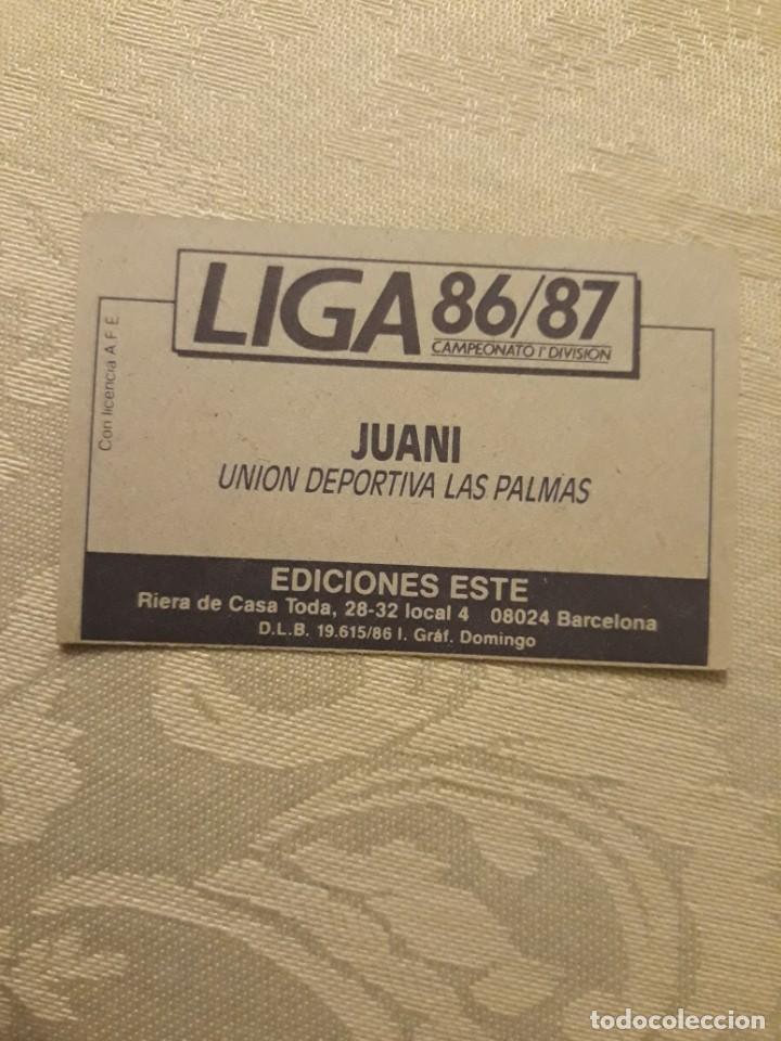 Cromos de Fútbol: JUANI LAS PALMAS NUNCA PEGADO ESTE 1986 1987 CROMO FUTBOL LIGA 86 87 - Foto 2 - 234903715